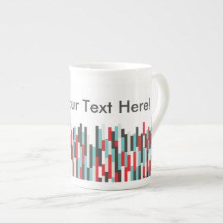 SS Colorful Stripes Design Bone China Mug