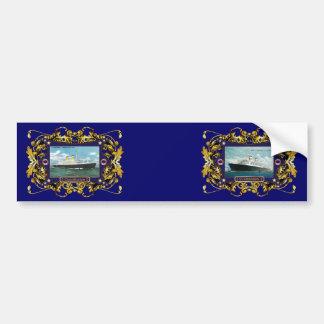 SS Constitution Vintage Ocean Liner Bumper Sticker