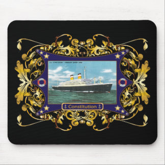 SS Constitution Vintage Ocean Liner Mouse Pad