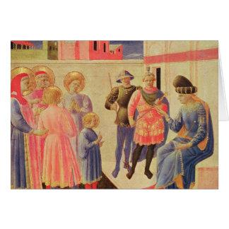 SS. Cosmas y Damián antes de Diocletian Tarjeta De Felicitación