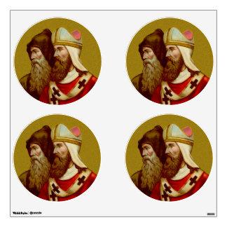 SS. Cyril & Methodius (M 001) 4-UP Circles Wall Sticker