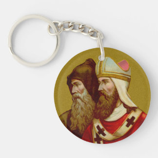 SS. Cyril & Methodius (M 001) Double Image Keychain