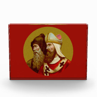 SS. Cyril & Methodius (M 001) Horiz Paperweight or Acrylic Award