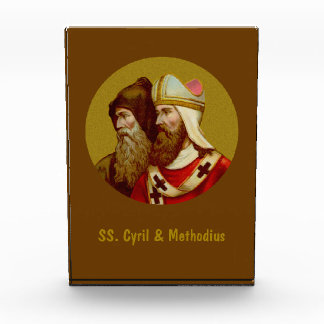 SS. Cyril & Methodius (M 001) Vertical Pprwght / Acrylic Award