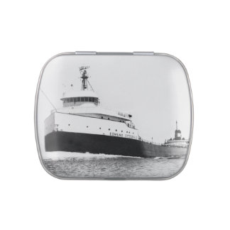 SS Edmund Fitzgerald Vintage Mighty Fitz Jelly Belly Candy Tin