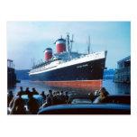 SS Estados Unidos 1957 Tarjeta Postal