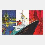ss Francia con la torre Eiffel y la estatua de la Rectangular Altavoz