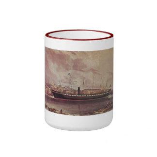 SS Great Britain 1843 at anchor Ringer Coffee Mug
