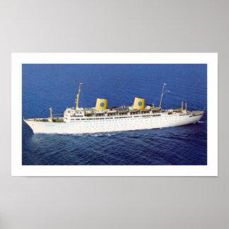 SS Gripsholm at Sea Poster