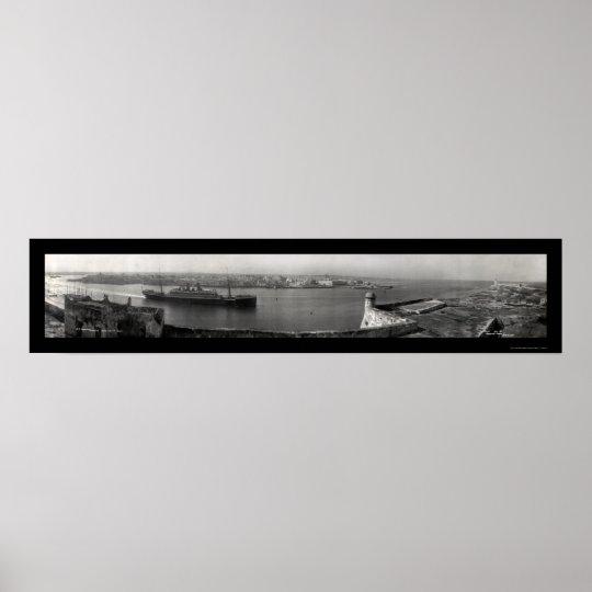 SS Hamburg Havana Photo 1911 Poster