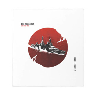 SS Indianapolis Notebook Notepad