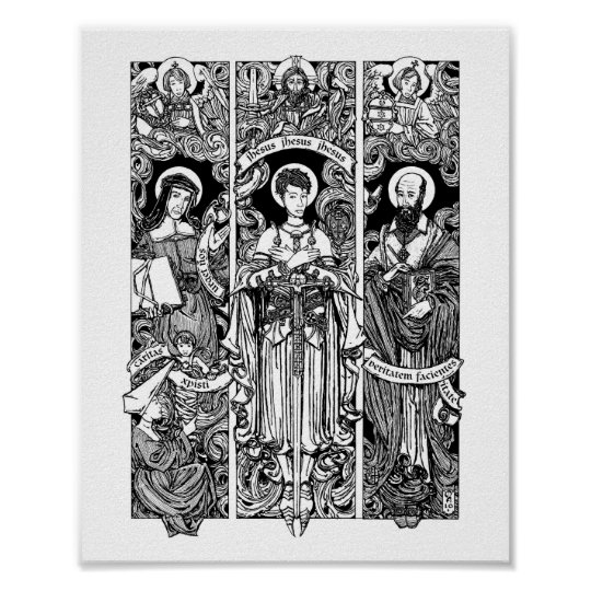 """SS. Joan, Louise and Francis  8"""" x 10"""" Print"""