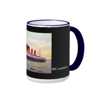 SS Lusitania Ringer Coffee Mug