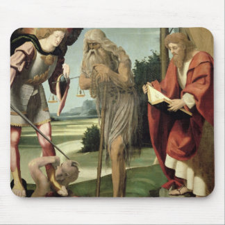 SS. Michael, Andrew and Onuphrius (oil on panel) Mouse Pad