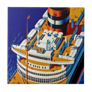SS Nieuw Amsterdam Azulejo Cuadrado Pequeño