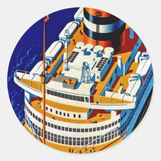 SS Nieuw Amsterdam Classic Round Sticker