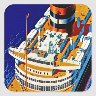SS Nieuw Amsterdam Pegatina Cuadrada