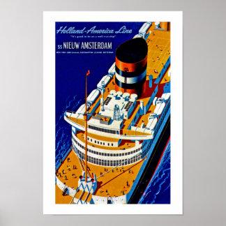 SS Nieuw Amsterdam Poster