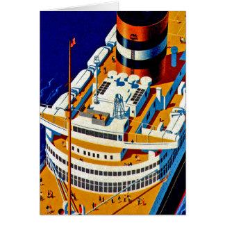 SS Nieuw Amsterdam Tarjeta De Felicitación