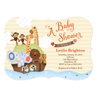 ss noah noah 39 s ark baby shower invitation