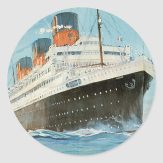 ss Paris - The French Line Classic Round Sticker