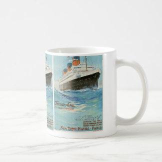 ss Paris - The French Line Coffee Mug