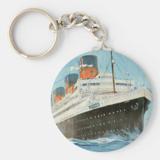 ss Paris - The French Line Keychain