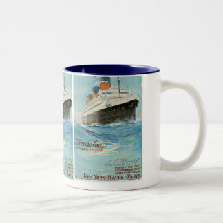 ss Paris - The French Line Coffee Mugs