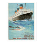 ss Paris - The French Line Postcard