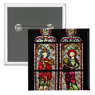 SS. Sylvester and John the Evangelist 2 Inch Square Button