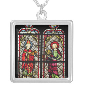 SS. Sylvester and John the Evangelist Square Pendant Necklace