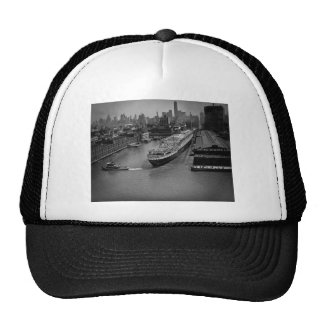 SS United States at Pier in New York City Trucker Hat