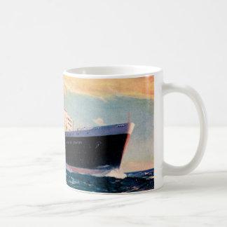 ss United States at Sea Classic White Coffee Mug
