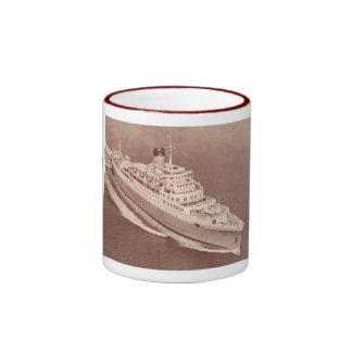 SS Windsor Castle Union Castle Line Ringer Coffee Mug