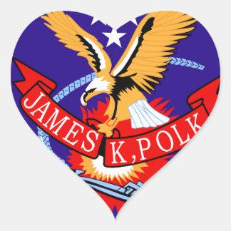 SSBN-645 USS James K Polk Submarine Patch Heart Sticker