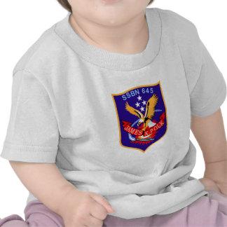 SSBN-645 USS James K Polk Submarine Patch T-shirt