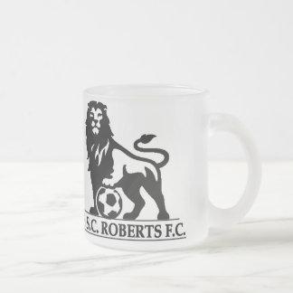 SSC ROBERTS GLASS FROSTED GLASS COFFEE MUG