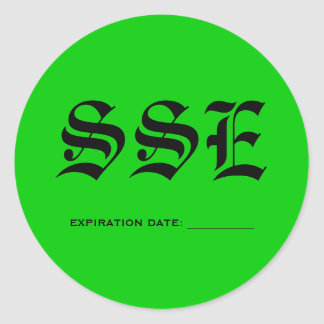 SSE, EXPIRATION DATE: ___________ CLASSIC ROUND STICKER