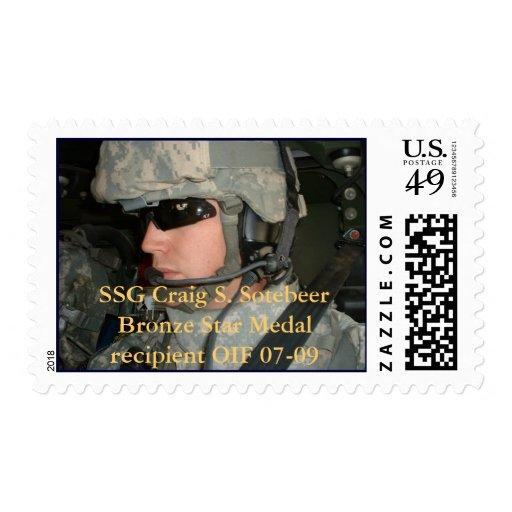 SSG Craig S. Sotebeer Bronze Star Medal reci... Stamp