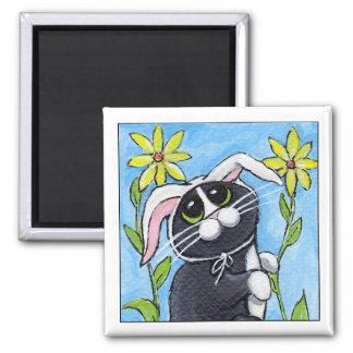Ssh… ¡Estoy cazando conejos! - Imán del gato