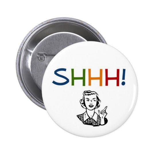 sshh librarian pinback button