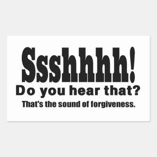 ¡Sshh! Sonido divertido del perdón Pegatina Rectangular