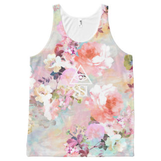 SSI Pink Rose All-Over Print Tank Top