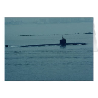 """SSN 713 """"Houston"""", nuclear powered attack sub, San Greeting Card"""
