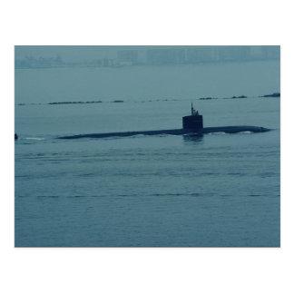 "SSN 713 ""Houston"", nuclear powered attack sub, San Postcard"
