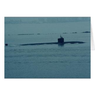 """SSN 713"""" Houston"""", submarino de propulsión nuclear Felicitacion"""