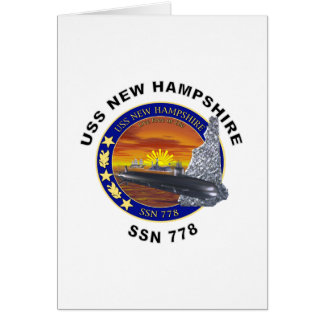 SSN 778 USS New Hampshire Card