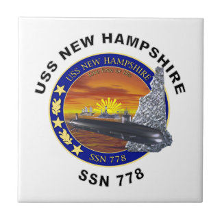 SSN 778 USS New Hampshire Ceramic Tile