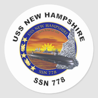 SSN 778 USS New Hampshire Classic Round Sticker