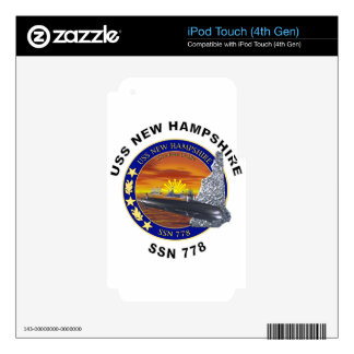 ssn 778 USS New Hampshire Decals For iPod Touch 4G
